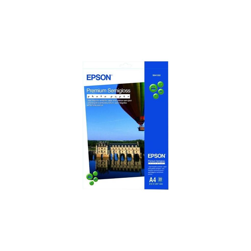 Epson Premium Semigloss Fotopapier 20 Blatt (A4) C13S041332