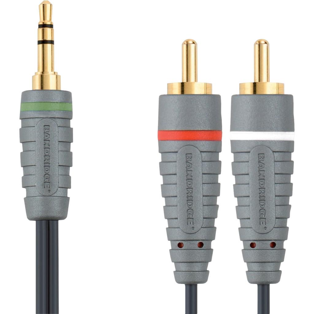 Bandridge 3,5 mm-auf-Cinch-Kabel 5 Meter BAL3405