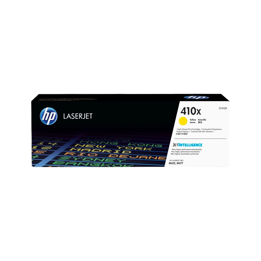HP 410X Toner Gelb (hohe Kapazität) CF412X