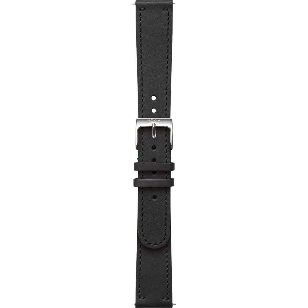 Withings 18 mm Lederarmband Schwarz LEATH BAND-BLK-18MM