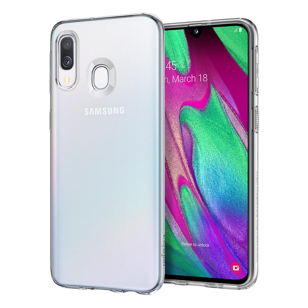 Spigen Flüssigkristall Samsung Galaxy A40 Rückseite transparent 35872