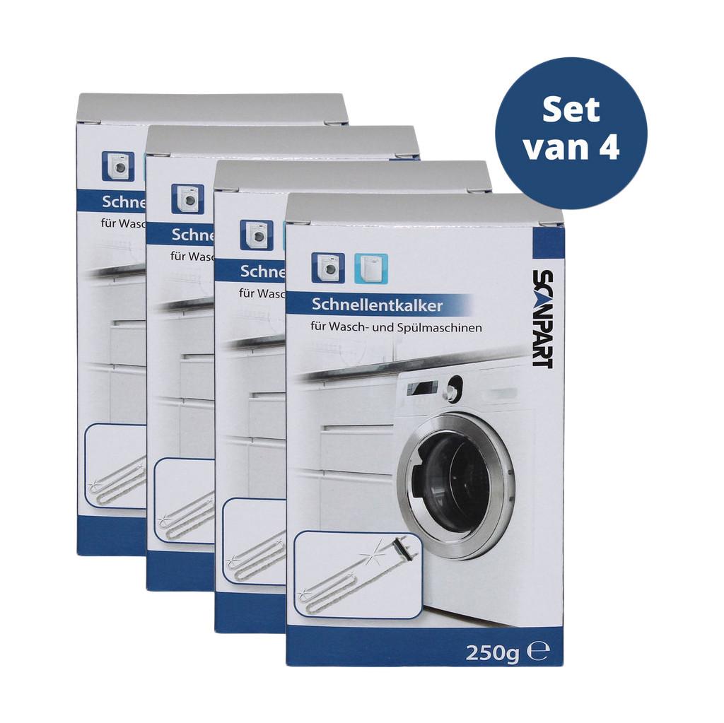 Scanpart Entkalker für Geschirrspüler und Waschmaschine 4 Stück 1110000401