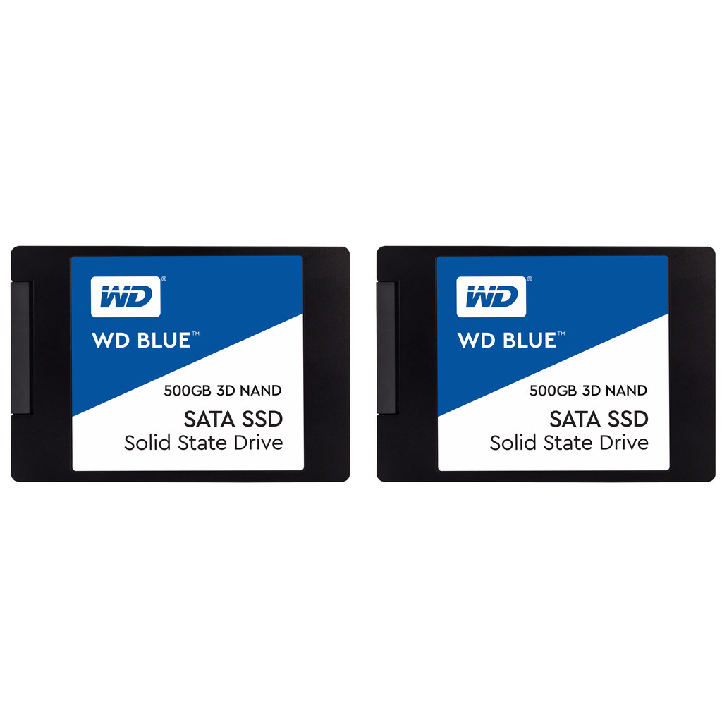 Western Digital WD Blue 3D NAND, 2,5 Zoll Duo-Pack, 500 GB