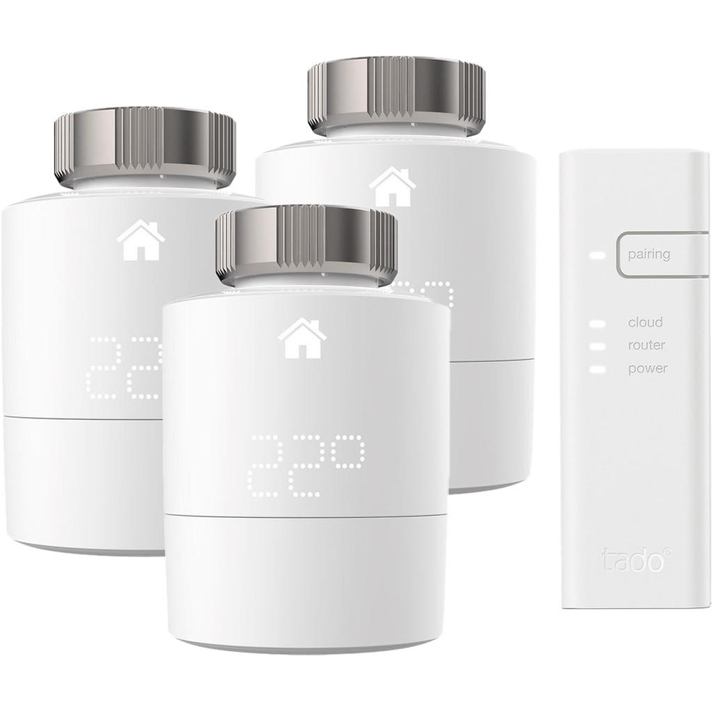 Tado Intelligenter Thermostat Starterkit V3+ + 3 Heizkörperventile