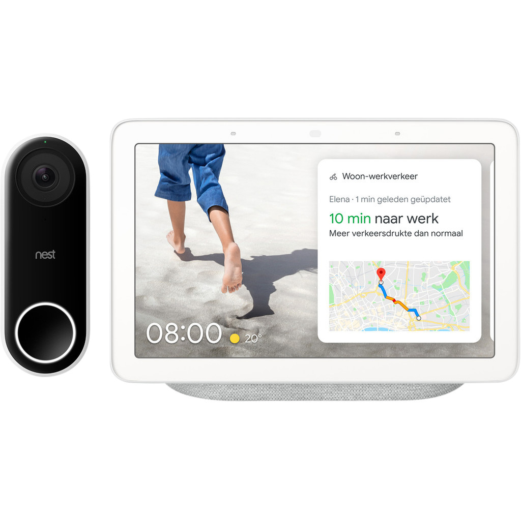 Google Nest Hello + Google Nest Hub Chalk