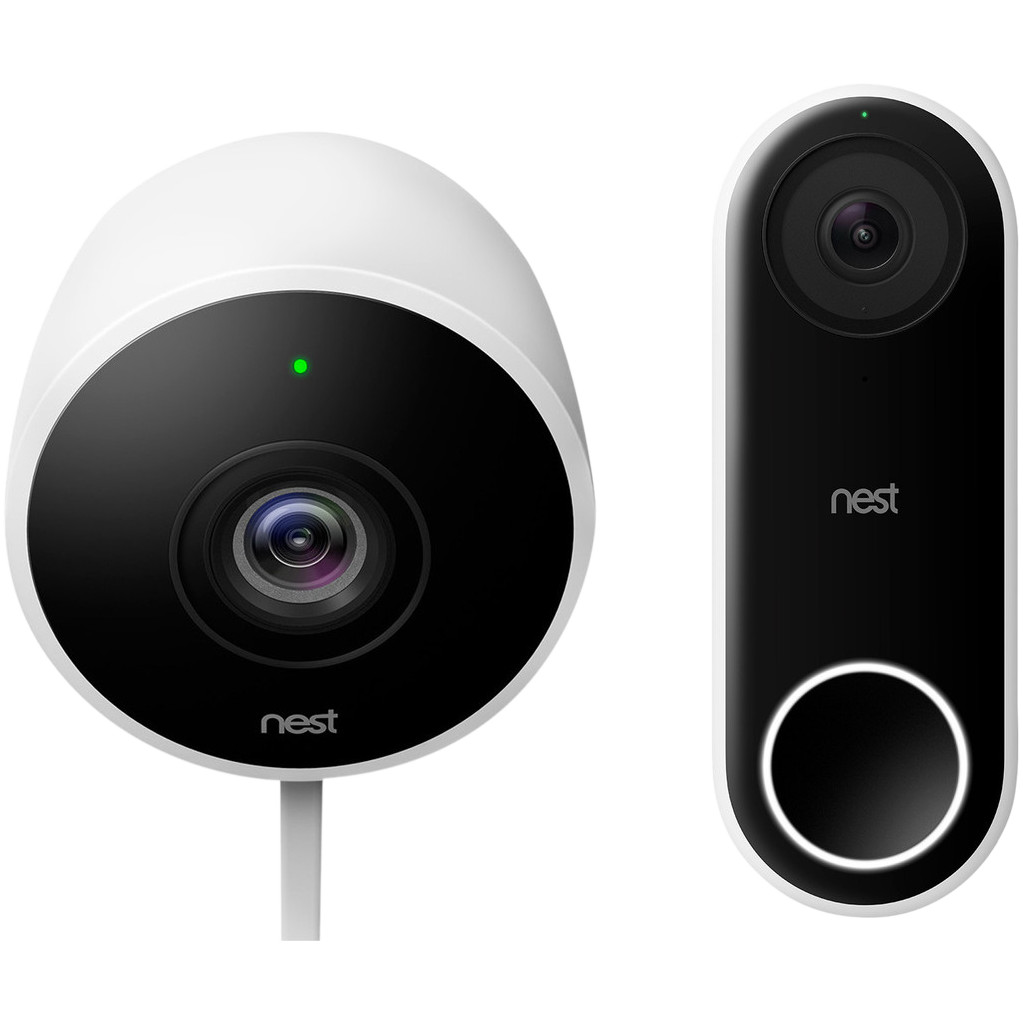 Google Nest Cam Outdoor + Google Nest Hello
