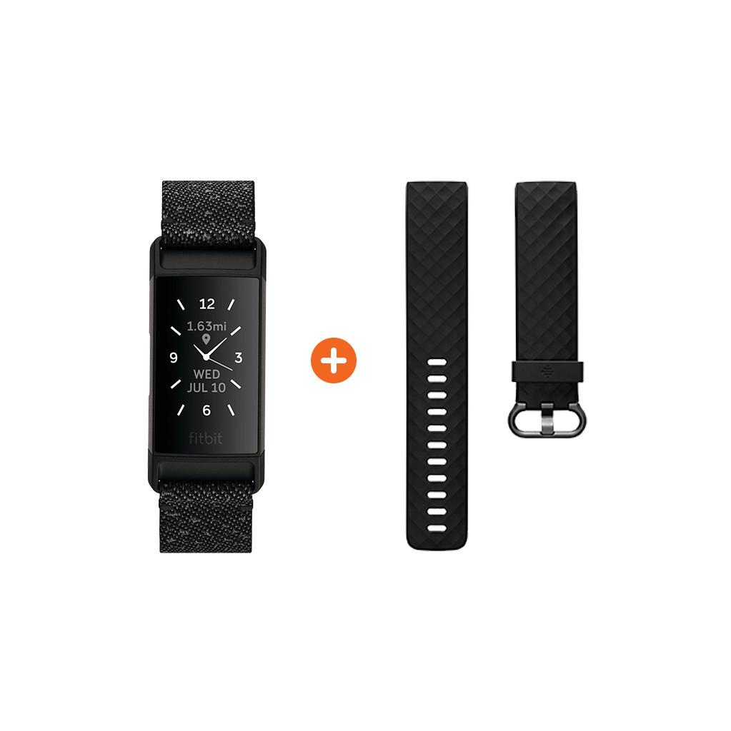 Fitbit Charge 4 Sonderausgabe Granit + Extra Kunststoffarmband FB417BKGY
