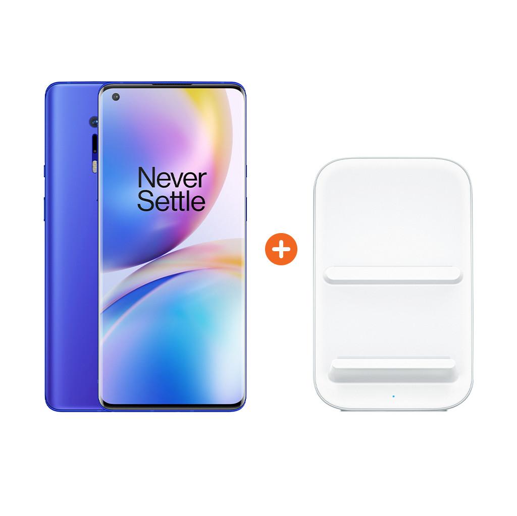 OnePlus 8 Pro 256 GB Blau 5G + OnePlus kabelloses Ladegerät 30W