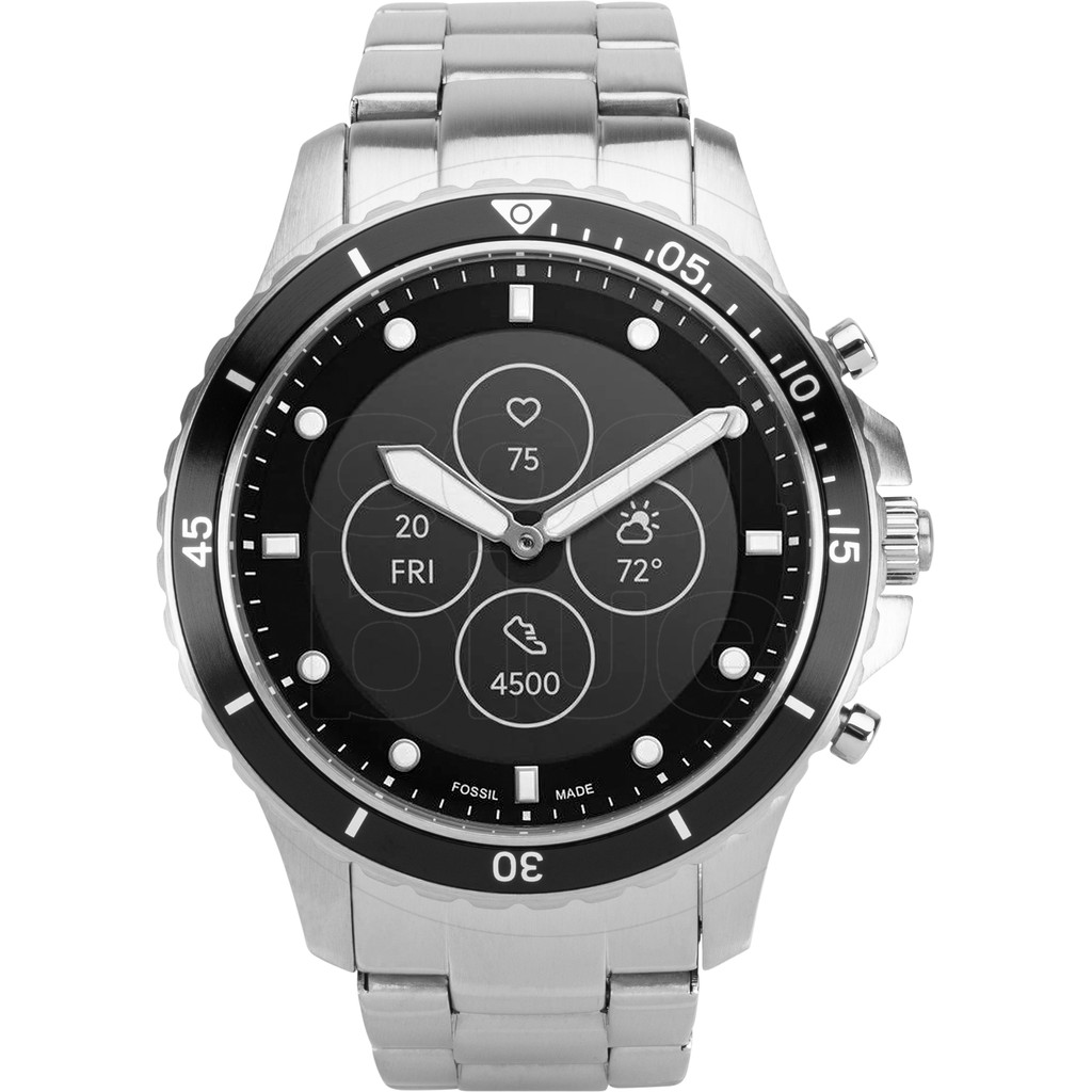 Fossile FB-01 Hybrid HR Smartwatch FTW7016 Silber