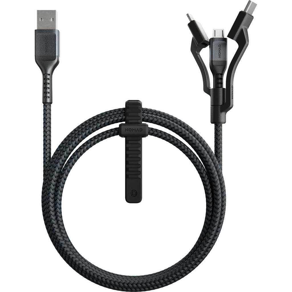 Nomad Goods Nomad 3-in-1-USB-Kabel Kevlar® (12W) Schwarz 1,5m NM01012B00