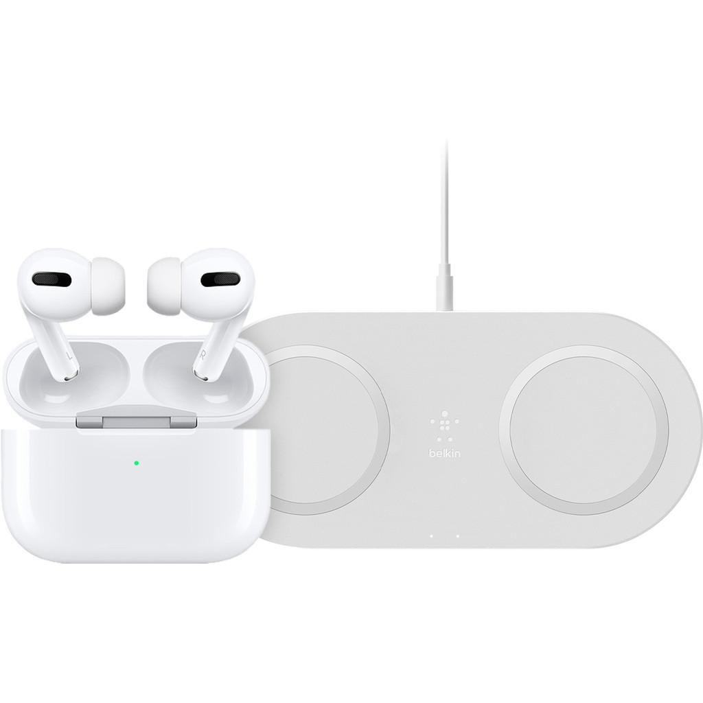 Apple Airpods Pro + Dual kabelloses Ladegerät