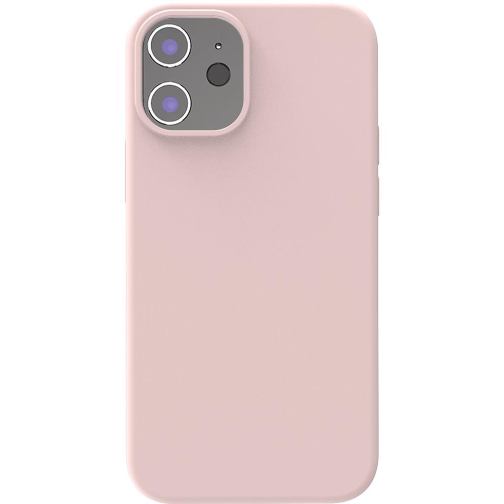 Azuri Backcover iPhone 12 Mini Silikon-Backcover in Rosa AZCOVSILIPH12M-PNK