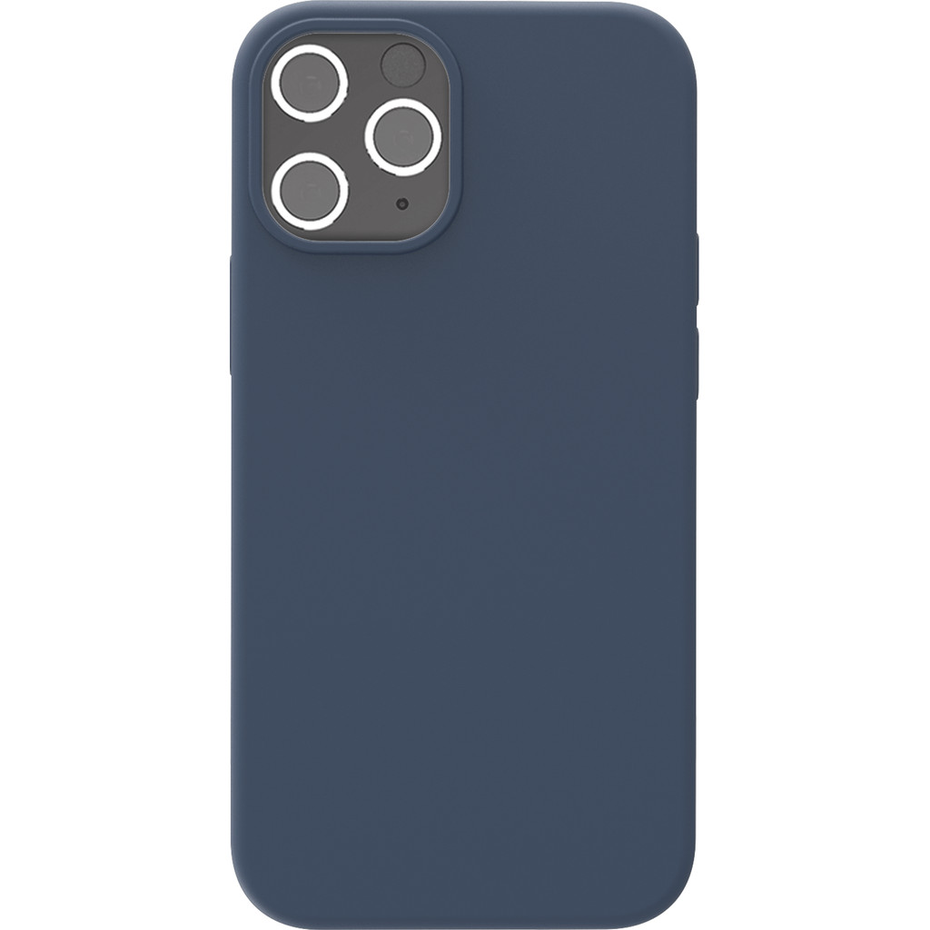 Azuri Backcover Apple iPhone 12/12 Pro Silikon-Backcover in Blau AZCOVSILIPH12P-BLU