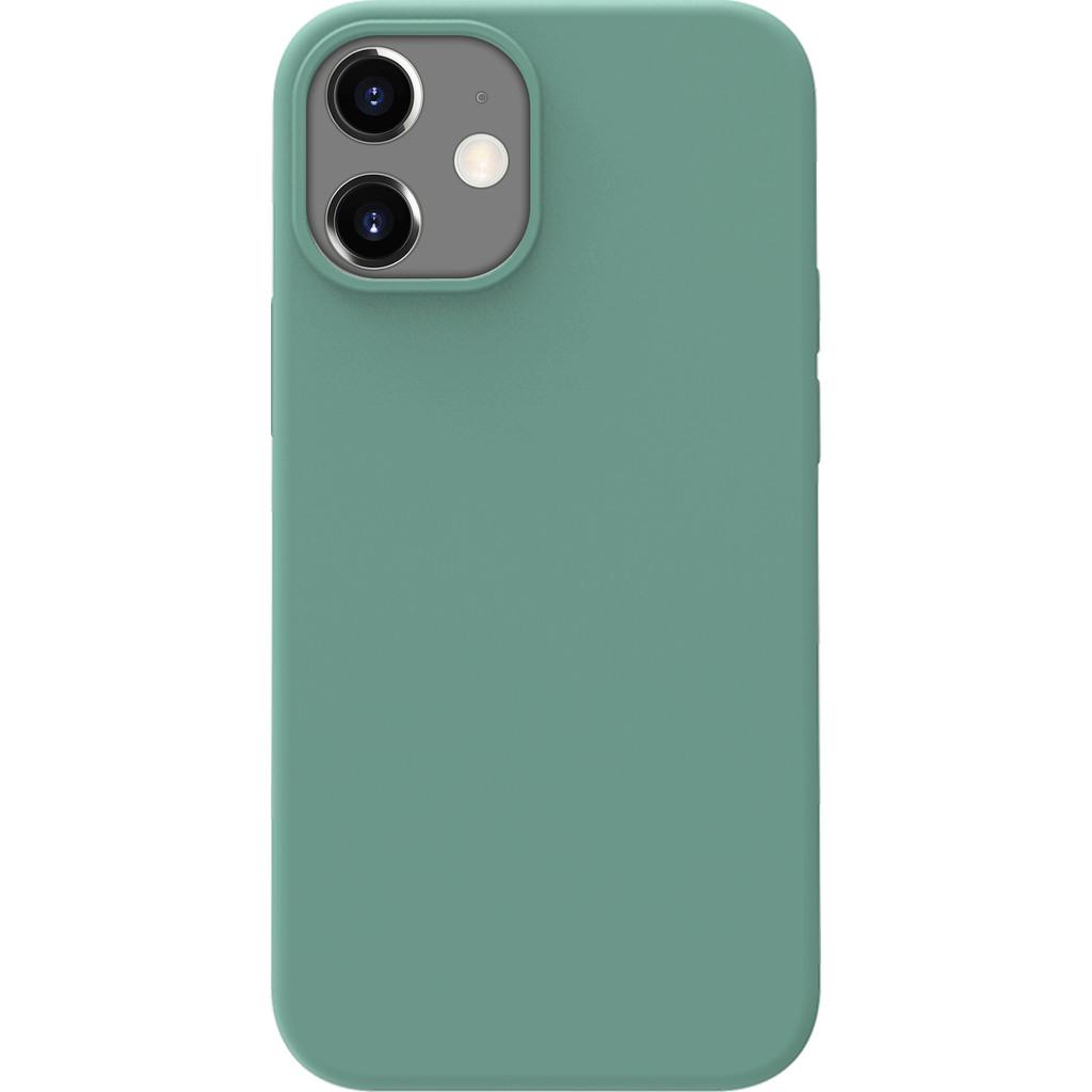 Azuri Backcover iPhone 12 Mini Silikon-Backcover in Grün AZCOVSILIPH12M-PNK