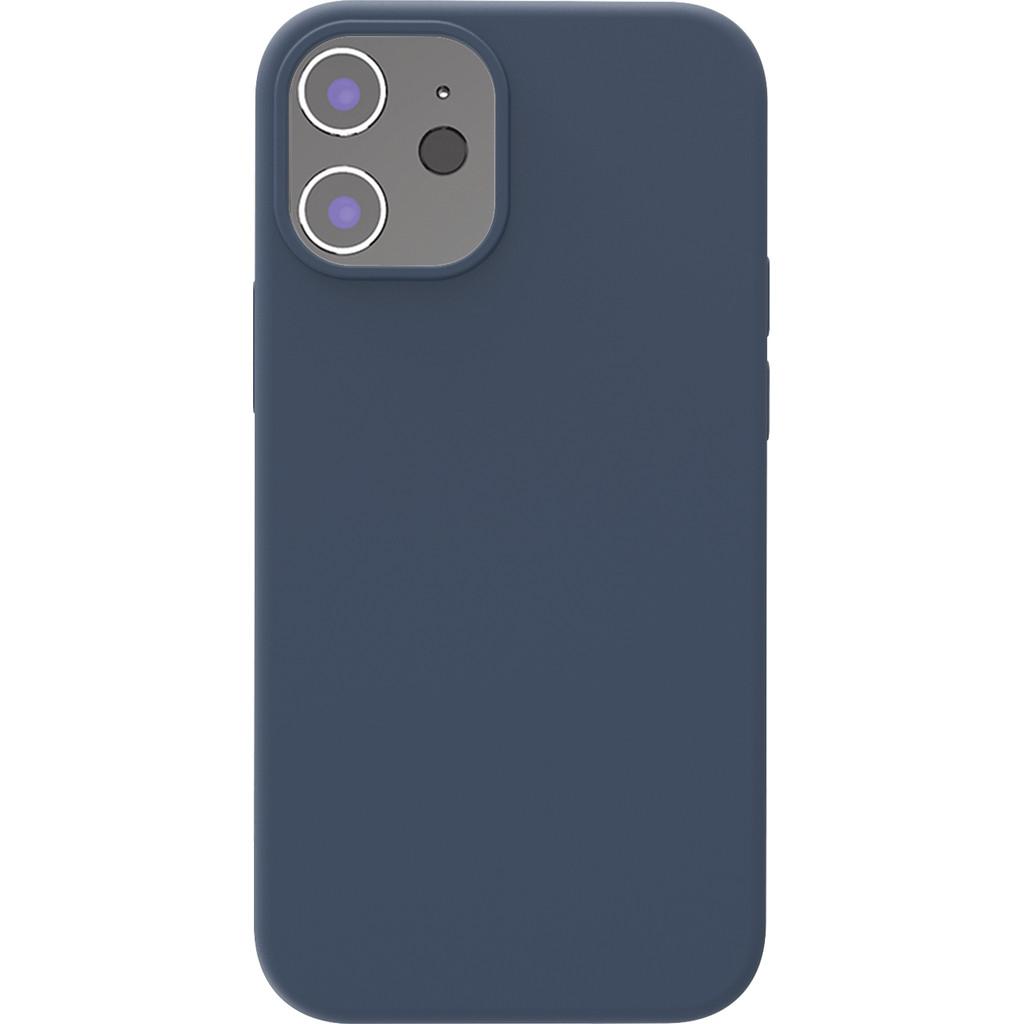 Azuri Backcover iPhone 12 Mini Silikon-Backcover in Blau AZCOVSILIPH12M-BLU