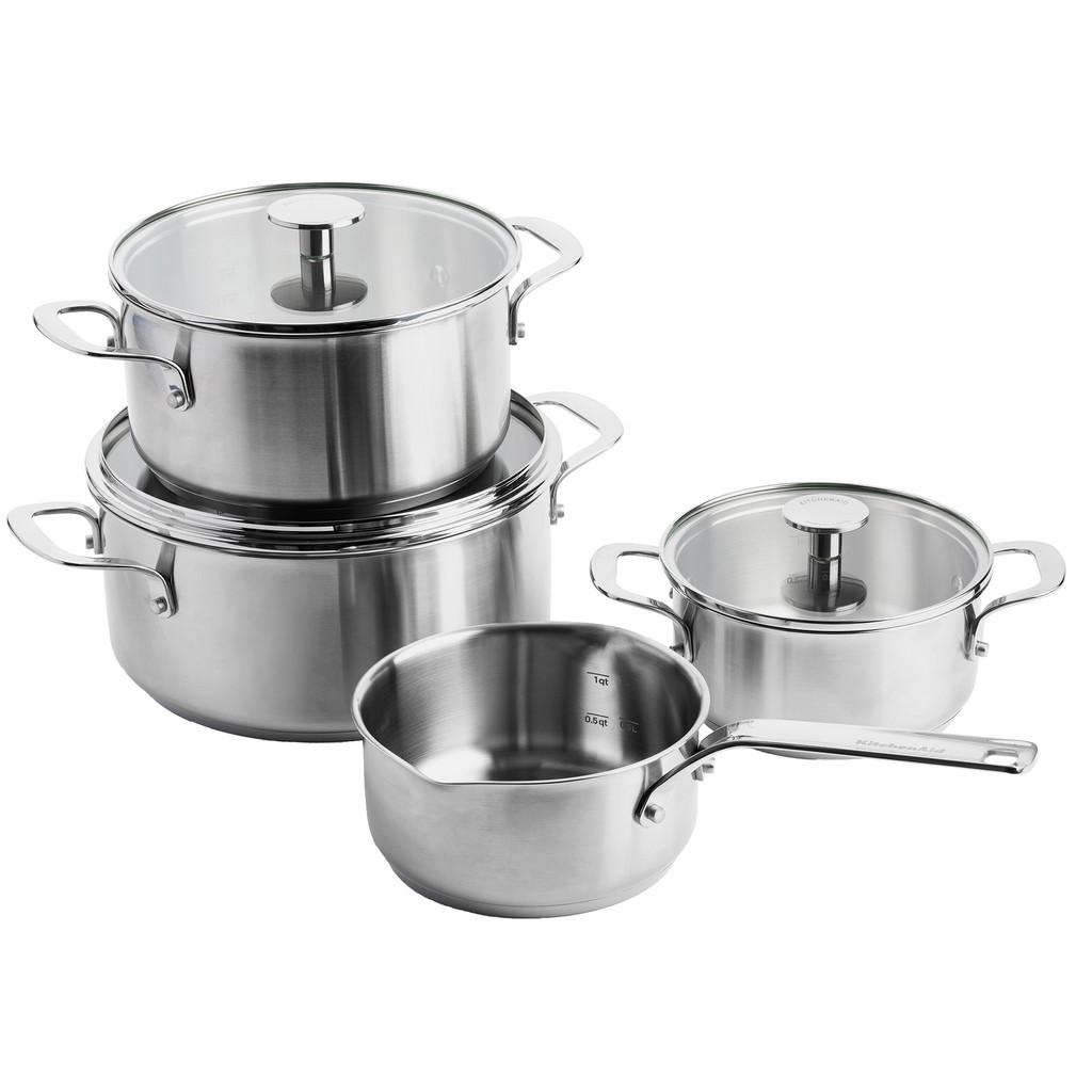 KitchenAid Stainless Steel 4-teiliges Kochtopfset CC003575-001