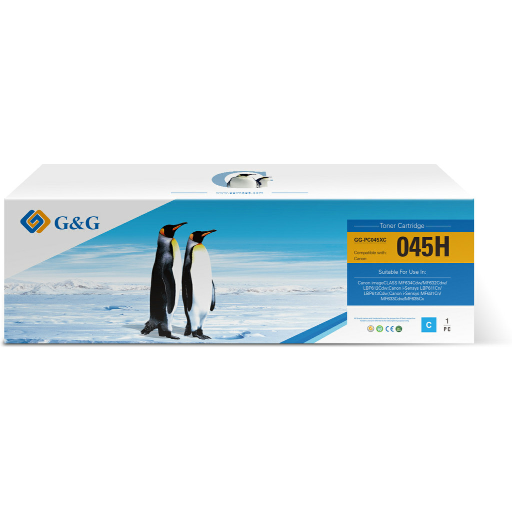 G&G G & G 045 Toner Cyan (hohe Kapazität) GG-C045C