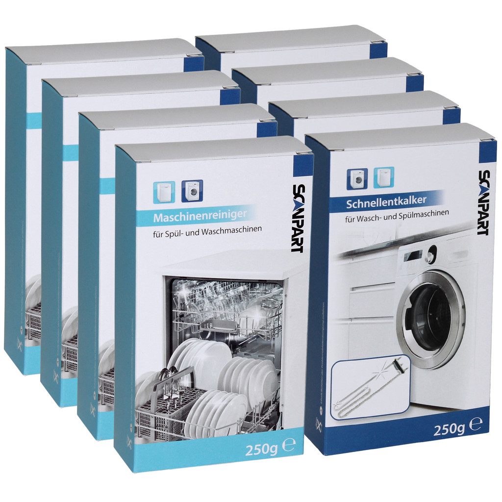 Scanpart Multipack Geschirrspüler/Waschmaschine Reinigung und Entkalker 4+4 1110000404