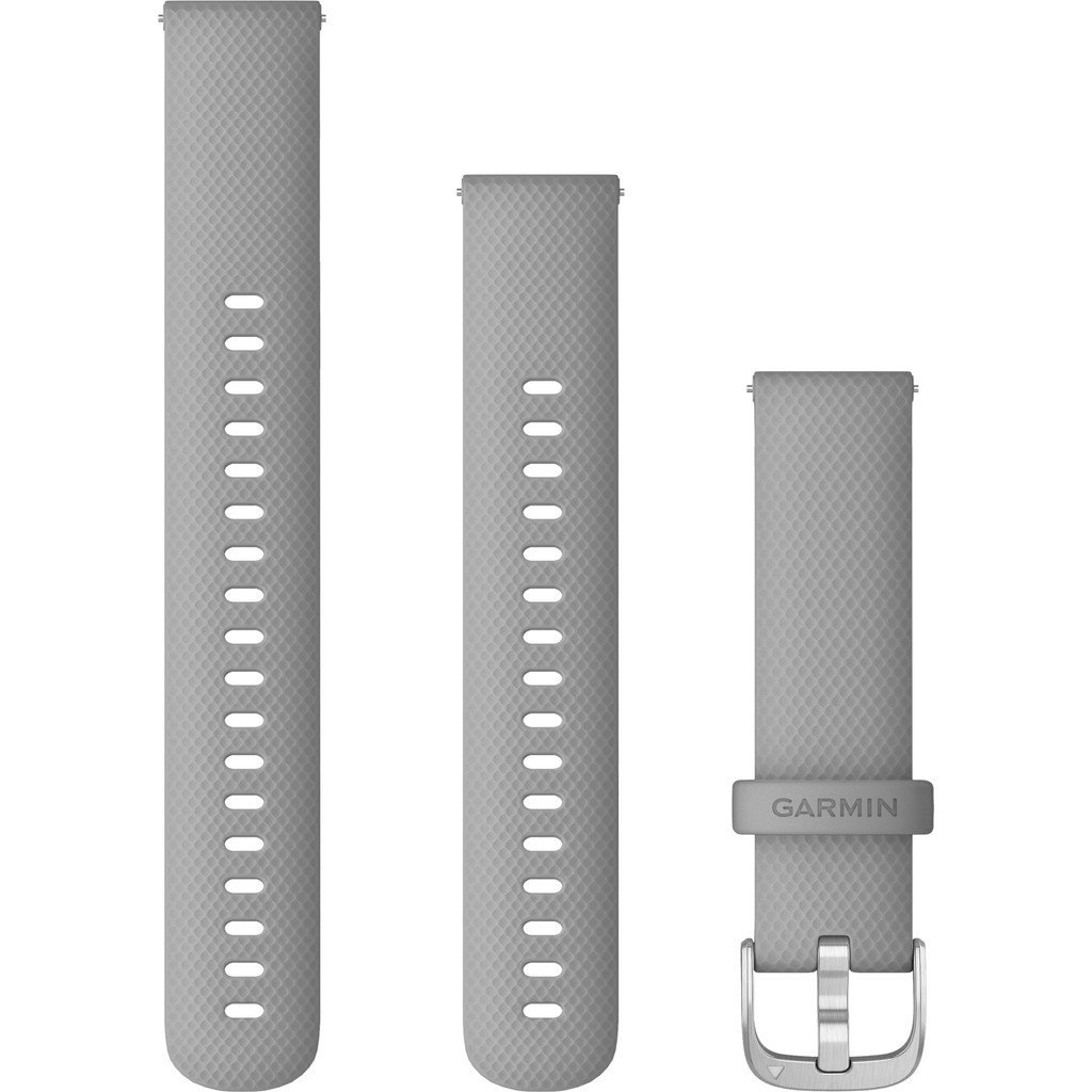 Garmin Silikonarmband Grau/Silber 18 mm 010-12932-00