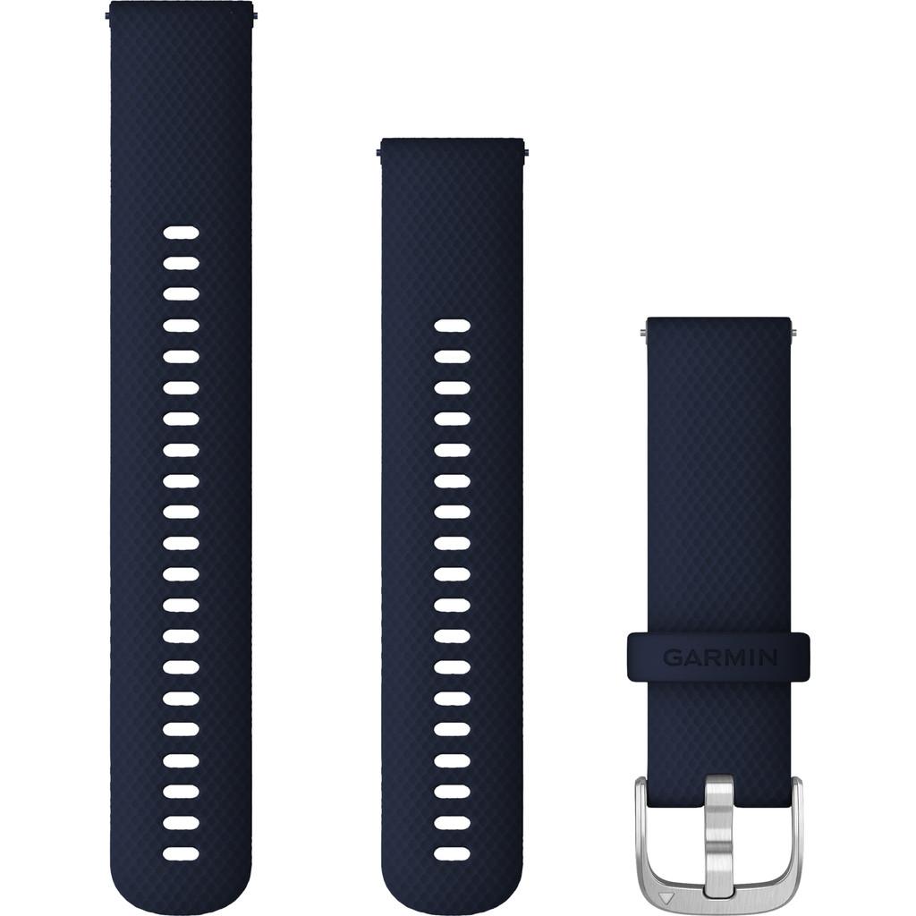 Garmin Silikonband Blau/Silber 22 mm 010-12932-2A