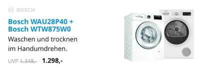 Bosch WAU28P40 + Bosch WTW875W0