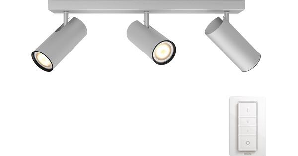 Philips Hue Buratto 3-Spot Grau mit Dimmer