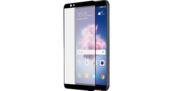 Azuri gebogenes gehärtetes Glas Huawei P Smart Displayschutzglas Schwarz