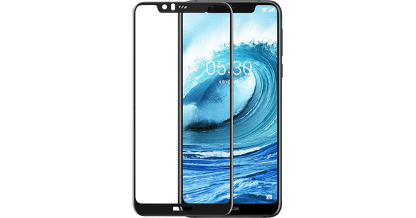 Azuri gehärtetes Glas Nokia 5.1 Plus Displayschutzglas Schwarz