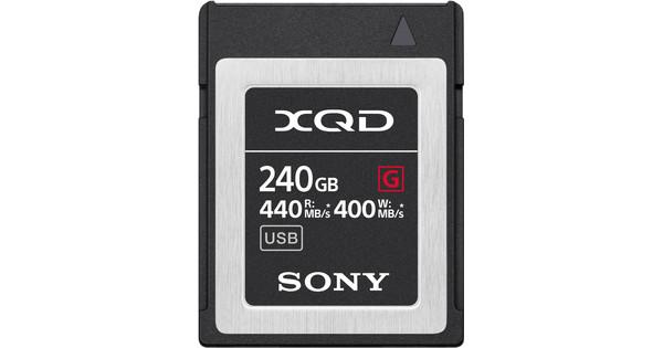 Sony XQD G, 240 GB, High Speed R440 W400