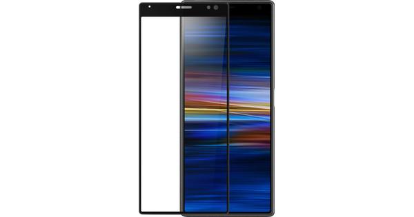 Azuri gebogenes gehärtetes Glas Sony Xperia 10 Displayschutzglas Schwarz