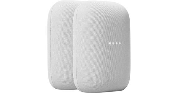 Google Nest Audio Chalk Doppelpack