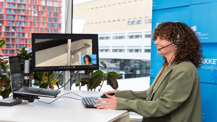 Videoanruf mit Kundendienstmitarbeiter