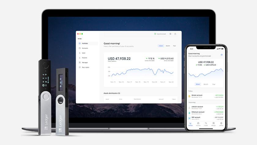 Ledger Live Software mit Hardware Wallet