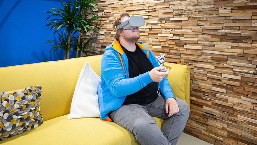 Simulationen mit VR-Brille.