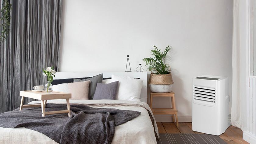 Mobile Klimaanlage im Schlafzimmer