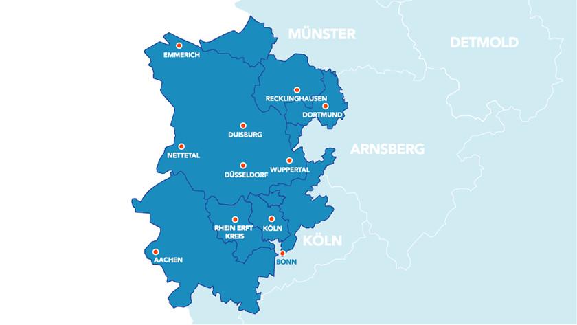 Coolblue Liefergebiet in Deutschland