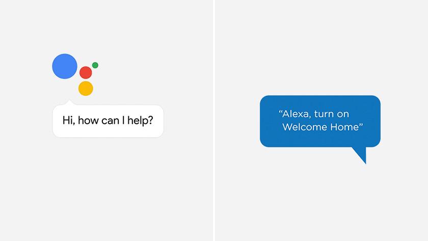 Der Google-Assistent und der Sprachassistent von Amazon Alexa