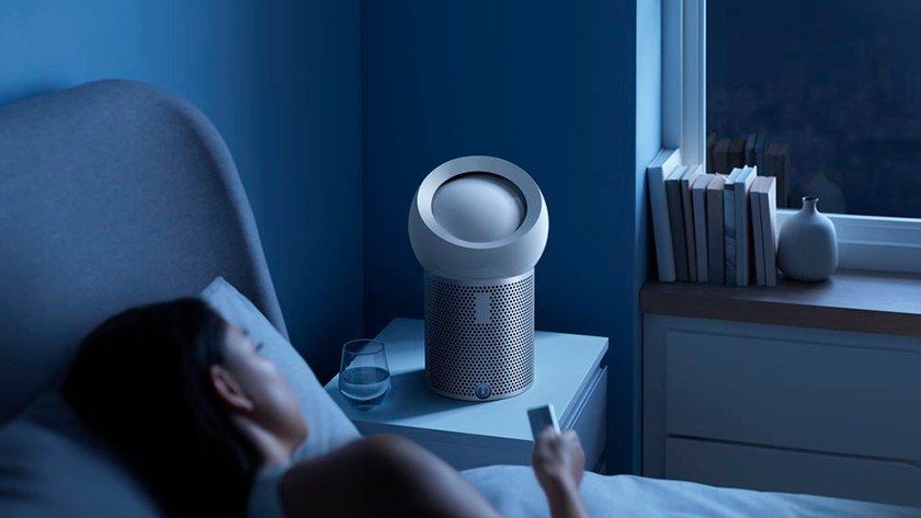 Dyson Pure Cool Me im Schlafzimmer
