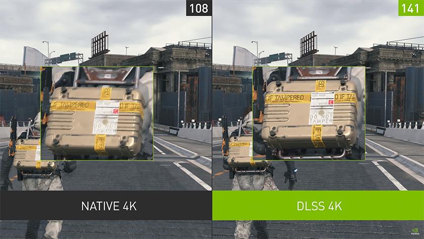DLSS für eine höhere Auflösung und eine hohe Bildrate