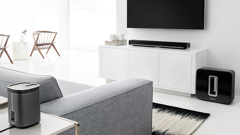Sonos-Lautsprecher im Wohnzimmer