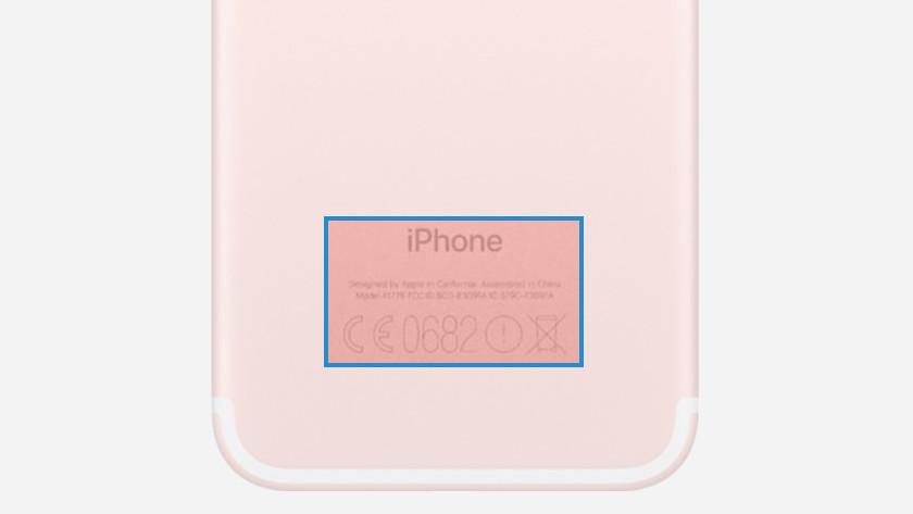 iPhone-Modellnummer auf der Rückseite