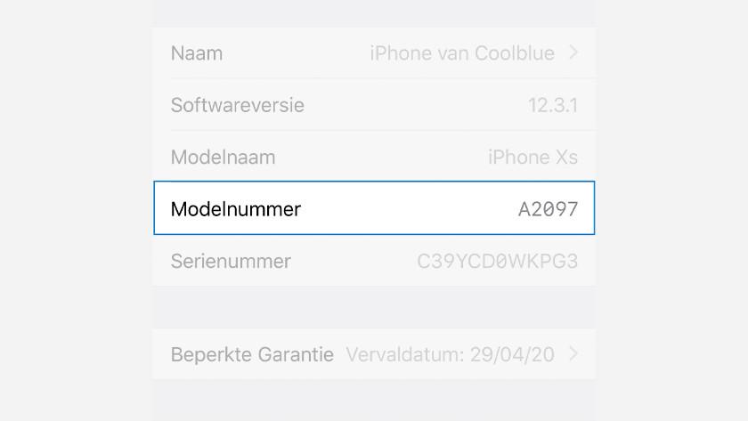 iPhone-Modellnummer