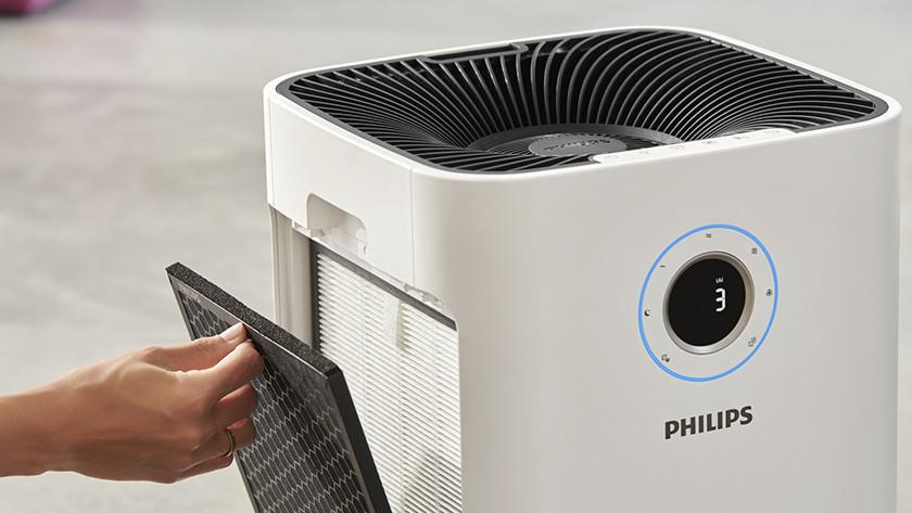 Halte den Luftreiniger sauber