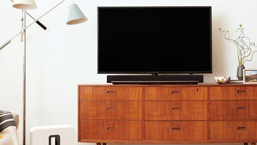 Soundbar unter TV