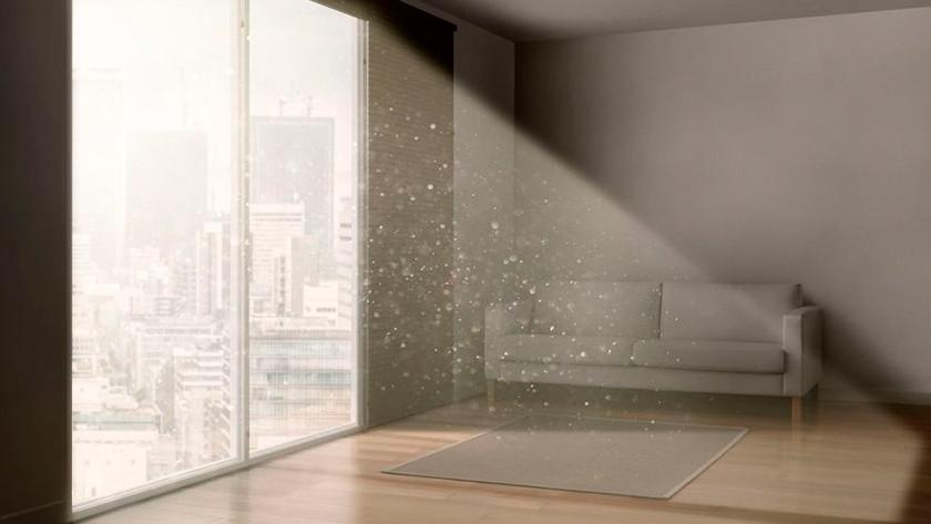 Raum mit Luftverschmutzung