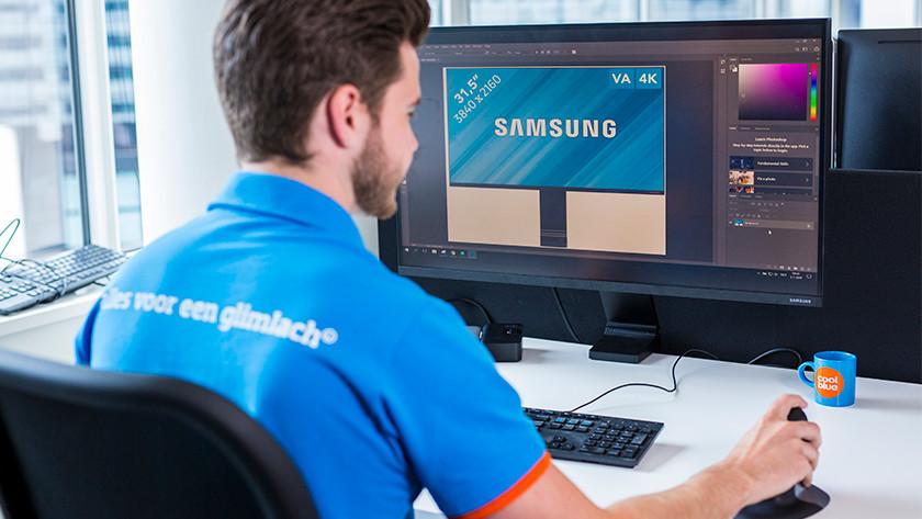 Monitor für Bildverarbeitung, vom Experten bedient