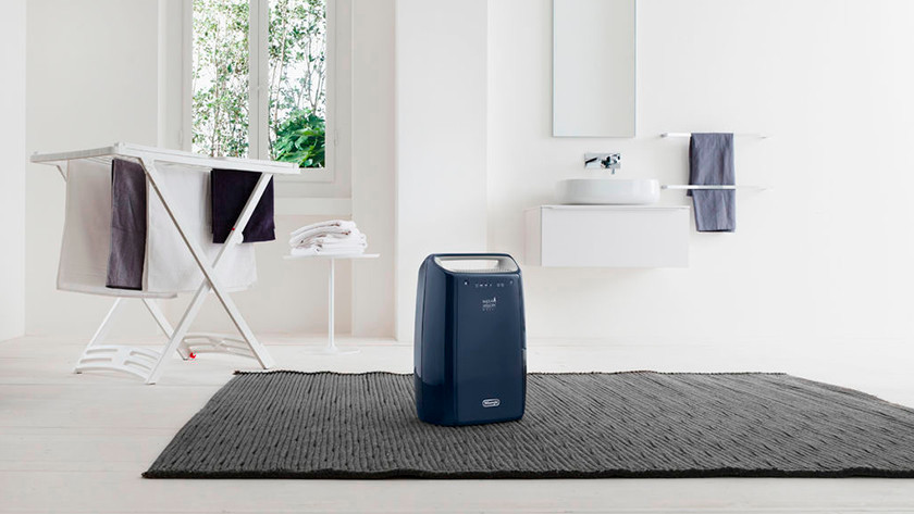 Luftentfeuchter in Waschküche