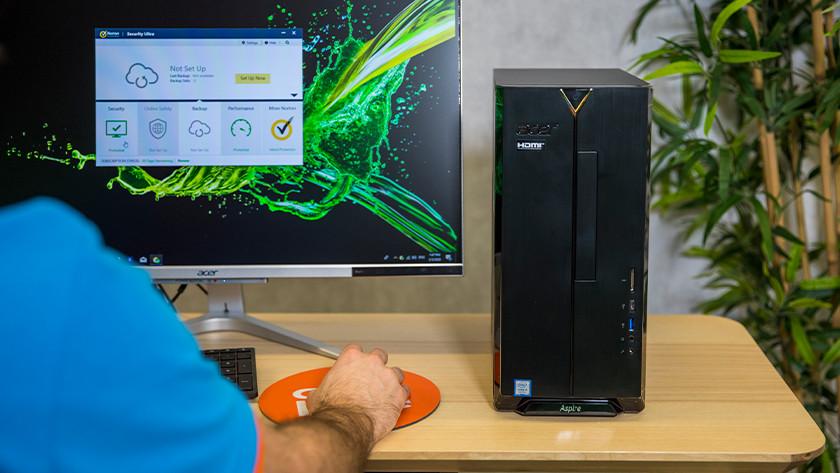 Norton auf einem Desktop-PC.