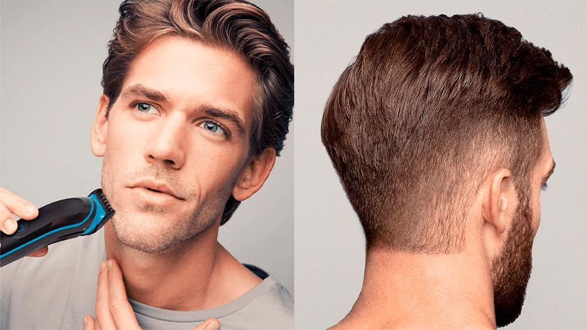 Bart und Haare schneiden