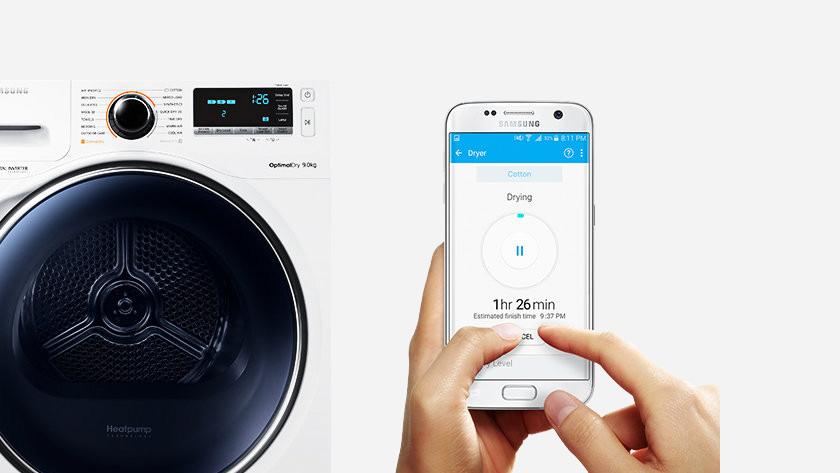 Waschmaschine mit Bedienung über App